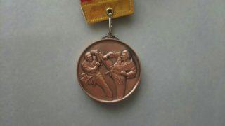 空手の大会メダル