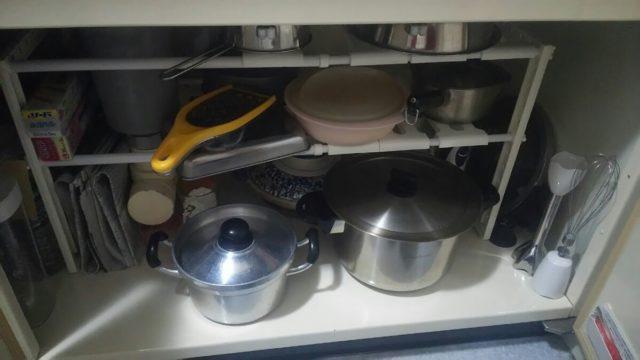 シンク下の鍋