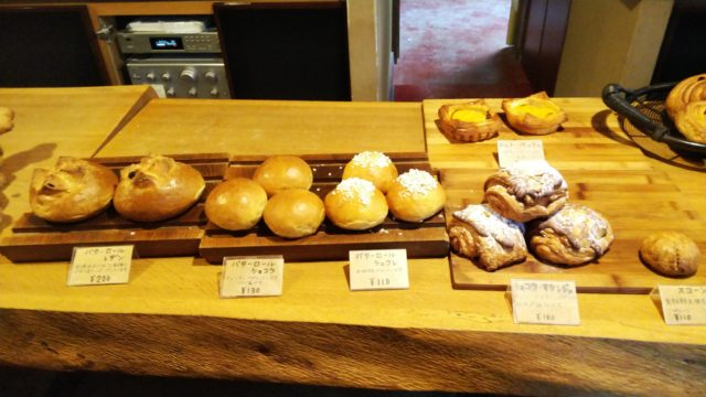 ロールパン数種とショコラオランジュ