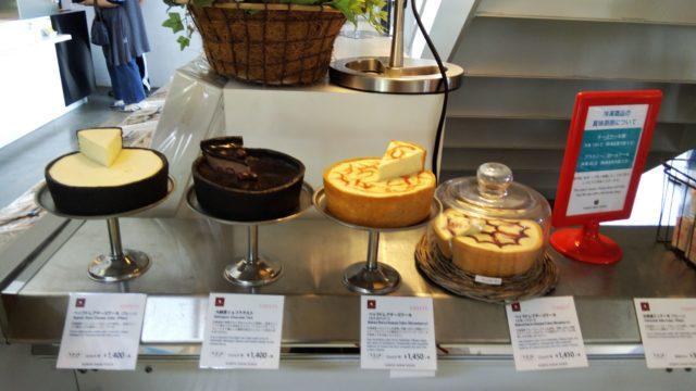 チーズケーキコーナーの商品