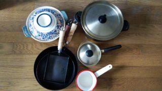 4つの鍋と3つのフライパン