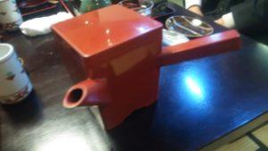 蕎麦湯が入った器