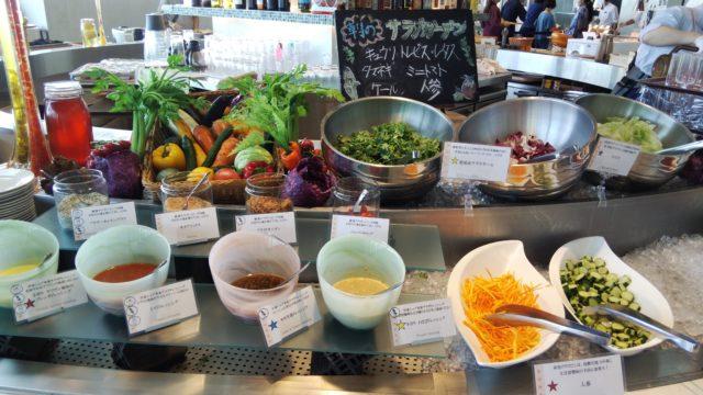 たくさんの野菜とソース類