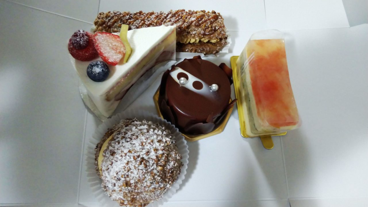 5種のケーキ