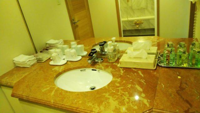 特別室の洗面台