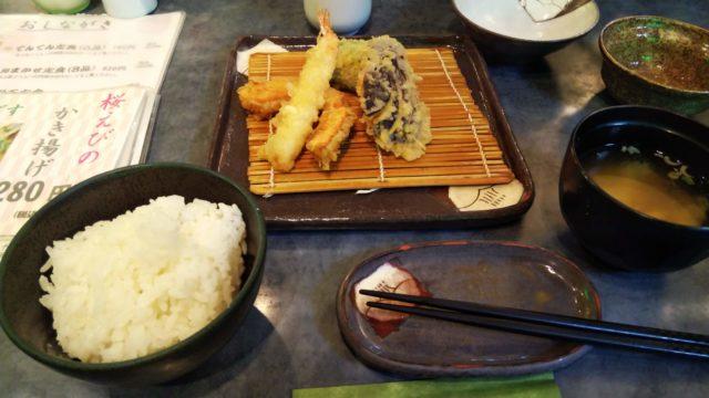 エビとカボチャとナスの天ぷら