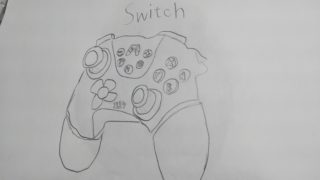 Switchコントローラーを描いた絵
