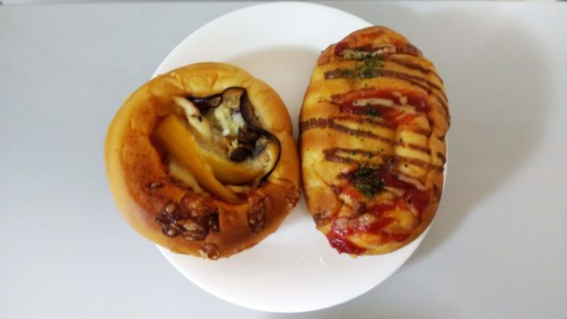 ピザパンとウインナーパン