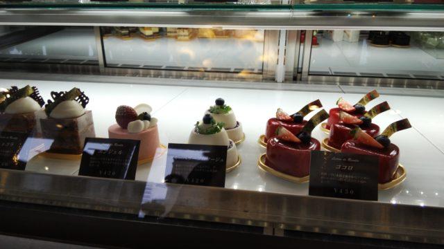 ショーケース内のケーキ4種類