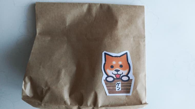 犬の焼き芋屋さんの袋