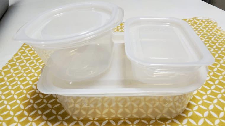 とにかく洗いやすい保存容器3サイズ