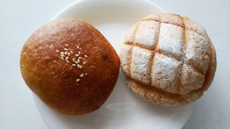 あんパンとメロンパン