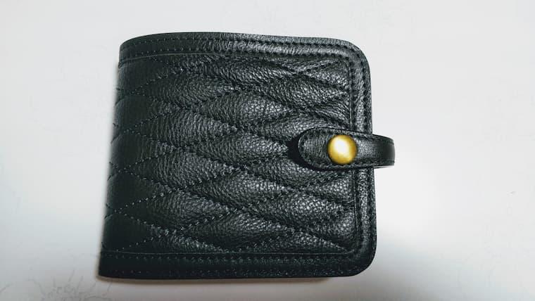グリーンの色の財布