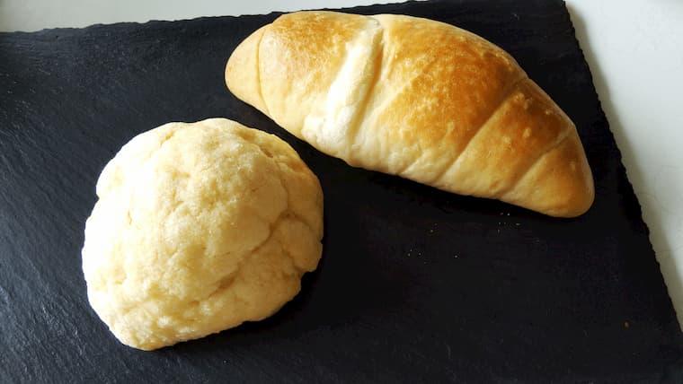 塩パンとメロンパン