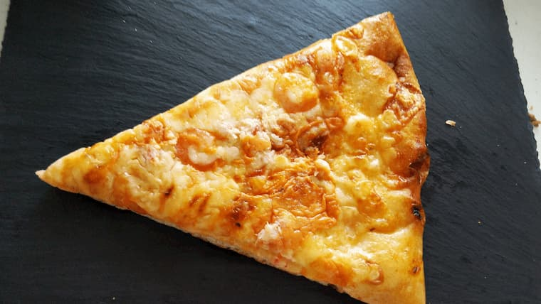ズワイガニのピザ