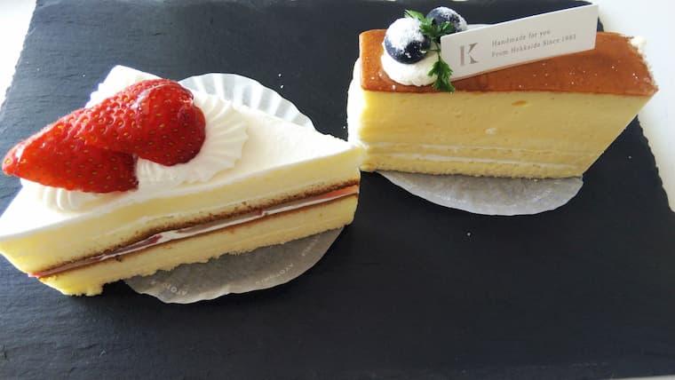 ショートケーキとチーズケーキ