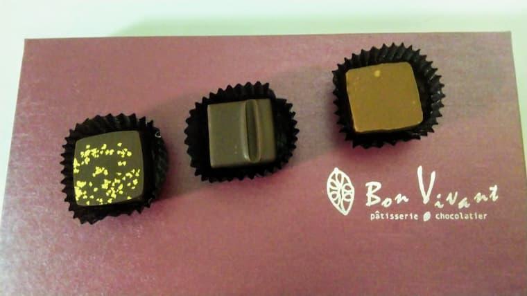 ボンボンチョコレート3種