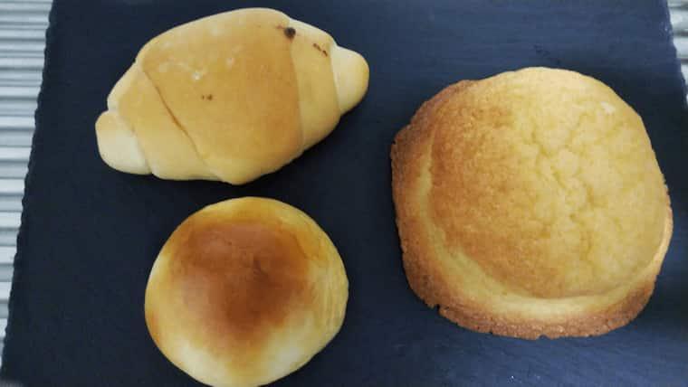 塩パン、あんぱん、メロンパン