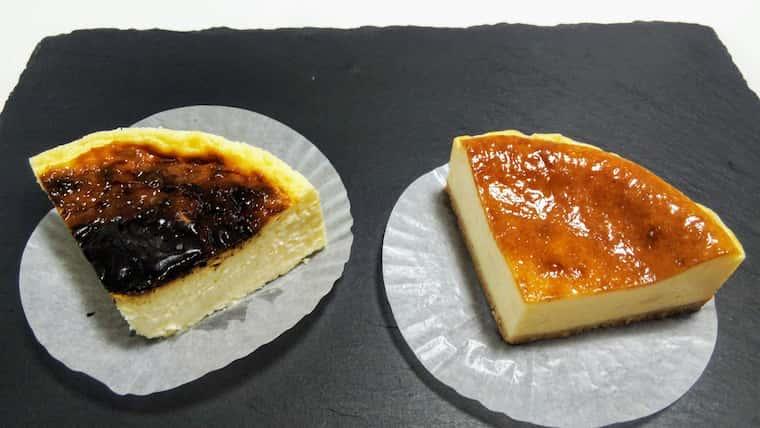 バスクチーズケーキとべクドカマンベール