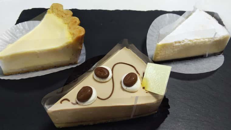 ケーゼとニューヨークチーズケーキとエスプレッソレアチーズ