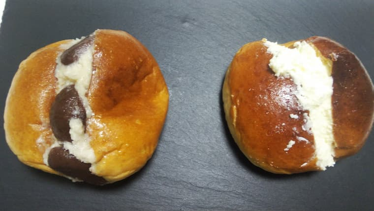 栗のマリトッツォとプレーン